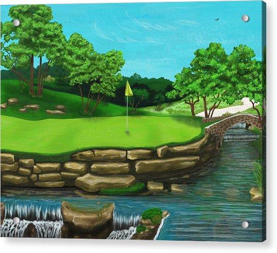 Golf Green Hole 16 Acrylic Print