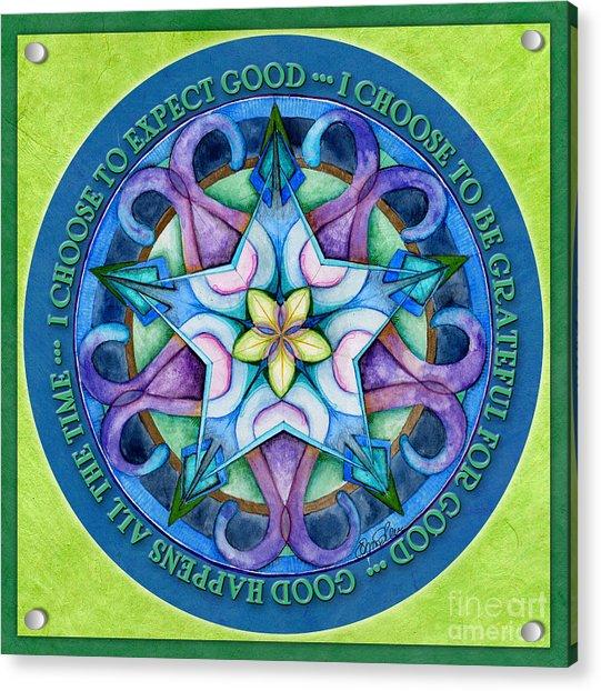 Good Happens Mandala Prayer Acrylic Print