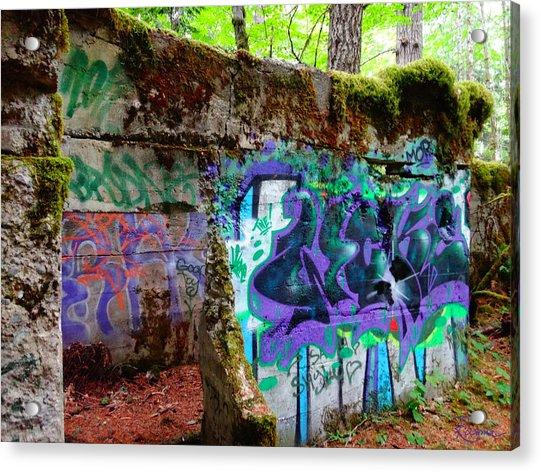 Graffiti Illusion Acrylic Print