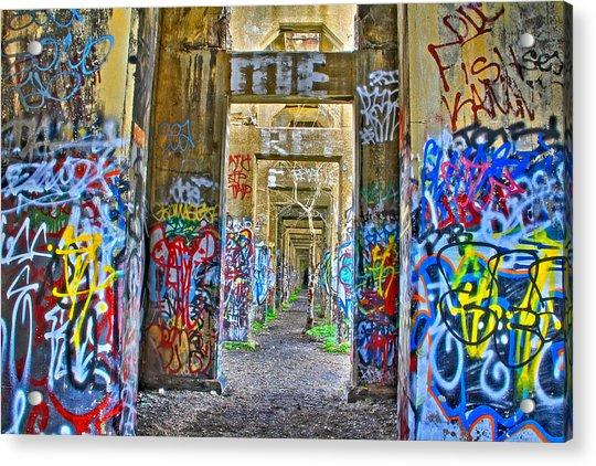 Acrylic Print featuring the photograph Grafiti Bridge To Nowhere by Alice Gipson