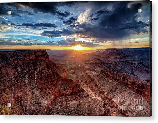 Grand Canyon Sunburst Acrylic Print