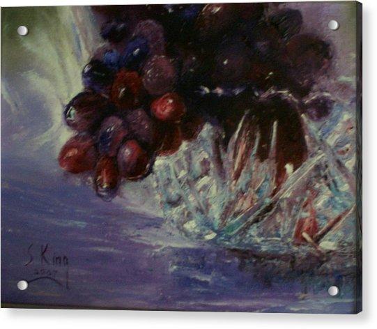 Grapes And Glass Acrylic Print