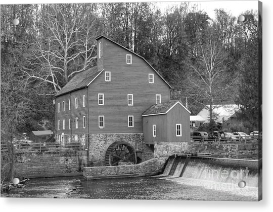 Gray Autumn At The Old Mill In Clinton Acrylic Print
