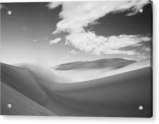 Great Sand Dunes National Park In Black And White Acrylic Print