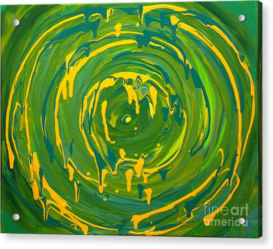 Green Forest Swirl Acrylic Print
