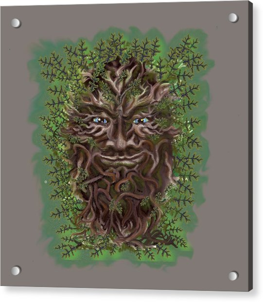 Green Man Of The Forest Acrylic Print
