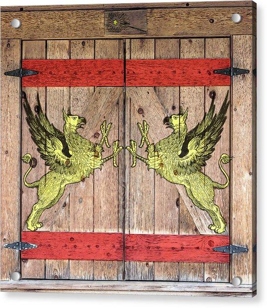 Griffin Door Acrylic Print