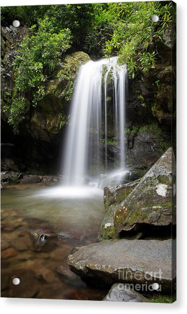 Acrylic Print featuring the photograph Grotto Falls Vertical by Jemmy Archer