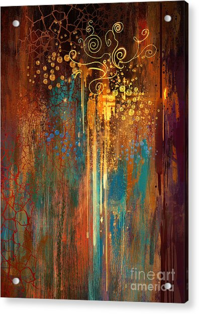 Acrylic Print featuring the painting Growth by Tithi Luadthong