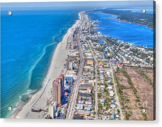 Gulf Shores Beach Looking W Acrylic Print