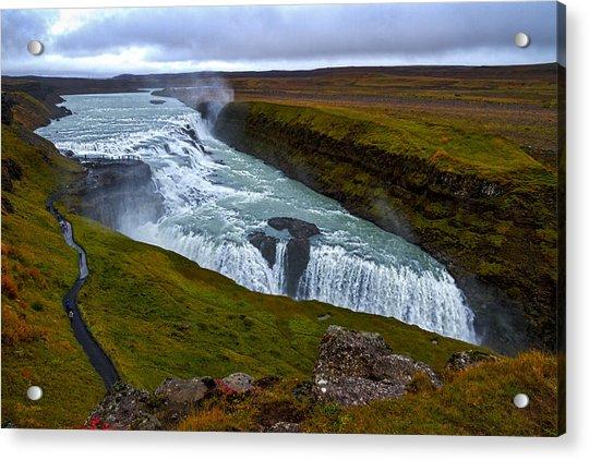 Gullfoss Waterfall #2 - Iceland Acrylic Print