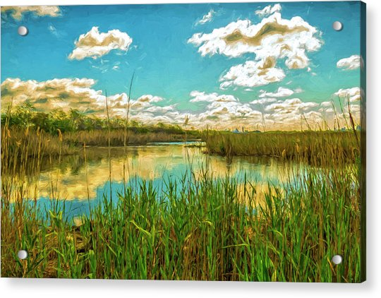 Gunnel Oval By Paint Acrylic Print