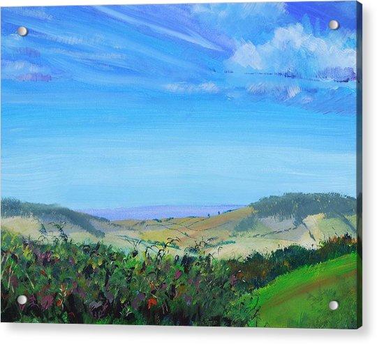 Haldon Hills Sea View Acrylic Print