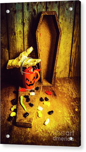Halloween Trick Of Treats Background Acrylic Print