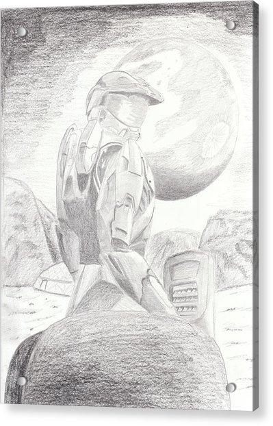 Halo Soldier Acrylic Print