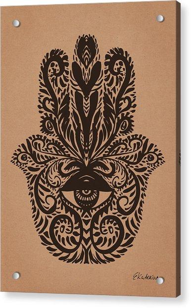 Hamsa Hand Acrylic Print