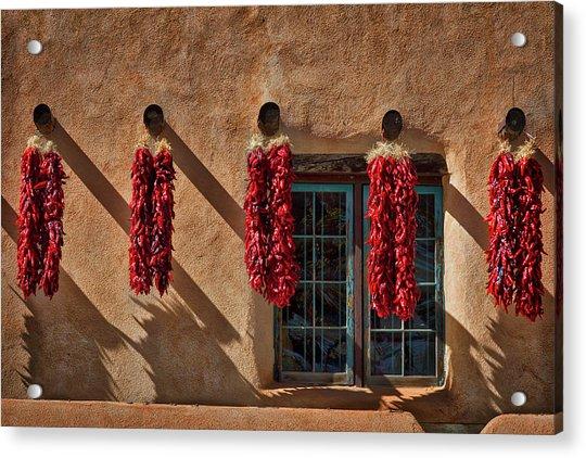 Hanging Chili Ristras - Taos Acrylic Print