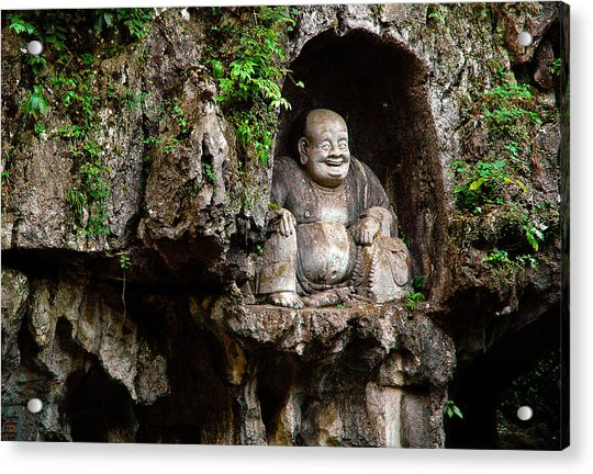 Happy Buddha Acrylic Print