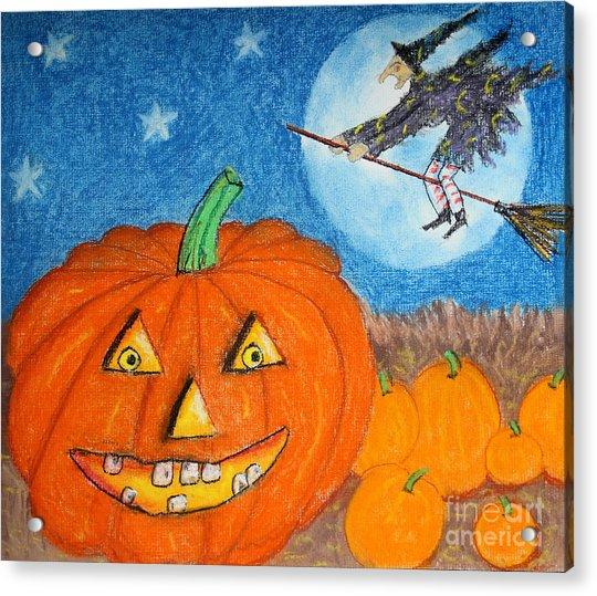 Happy Halloween Boo You Acrylic Print