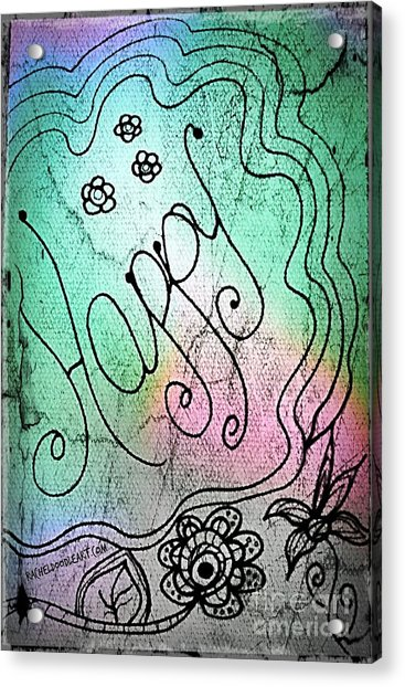 Acrylic Print featuring the drawing Happy by Rachel Maynard