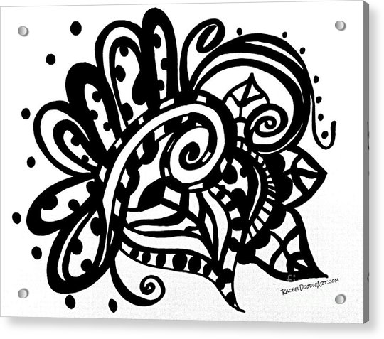 Acrylic Print featuring the drawing Happy Swirl Doodle by Rachel Maynard