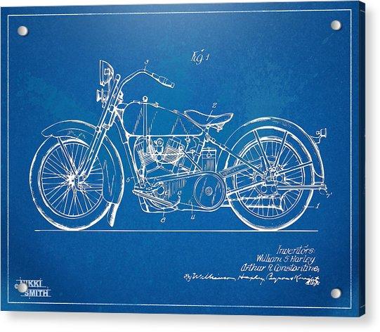 Harley-davidson Motorcycle 1928 Patent Artwork Acrylic Print