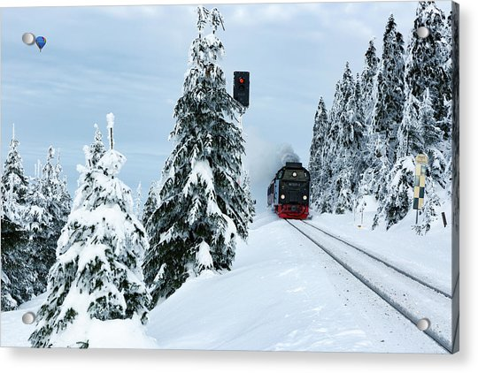 Harz Ballooning And Brocken Railway Acrylic Print