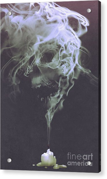 Acrylic Print featuring the painting Haunted Smoke  by Tithi Luadthong