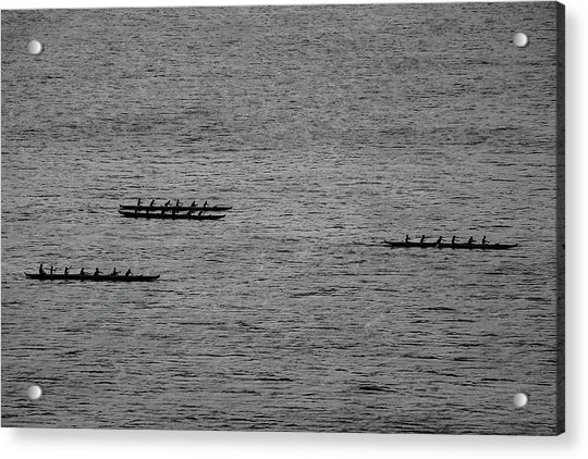 Hawaiian Rowers Acrylic Print