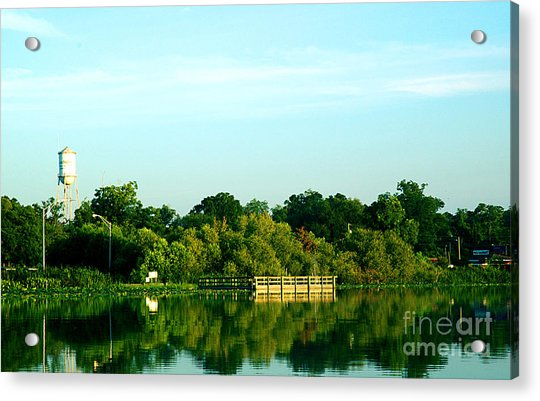 Hawthorne With Water Tower Acrylic Print