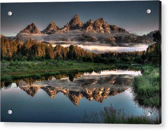 Hazy Reflections At Scwabacher Landing Acrylic Print
