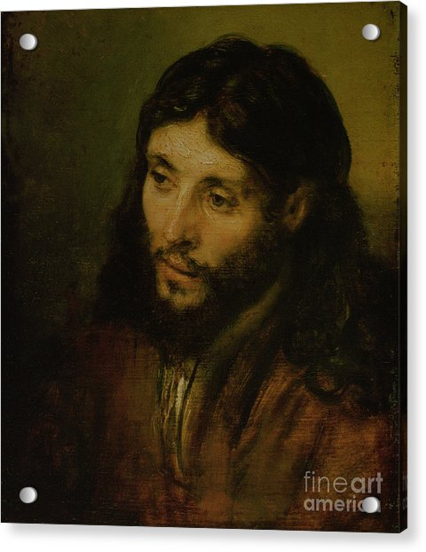 Head Of Christ Acrylic Print