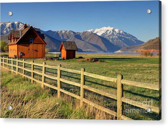 Heber Valley Ranch House - Wasatch Mountains Acrylic Print