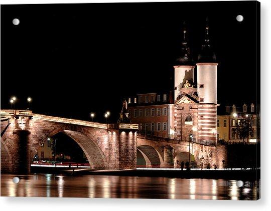 Heidelberg Bridge Acrylic Print