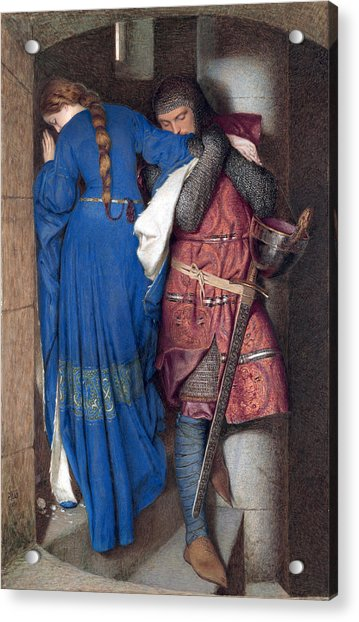 Hellelil And Hildebrand Or The Meeting On The Turret Stairs Acrylic Print