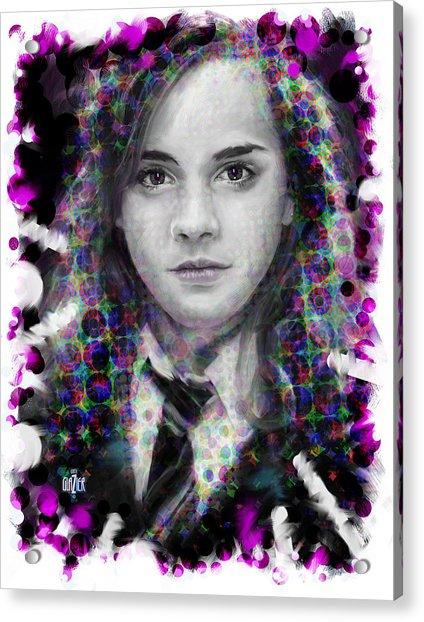Hermione Granger Halftone Portrait Acrylic Print
