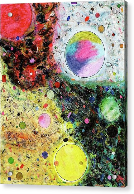 Acrylic Print featuring the mixed media Hidden Aliens by Michael Lucarelli