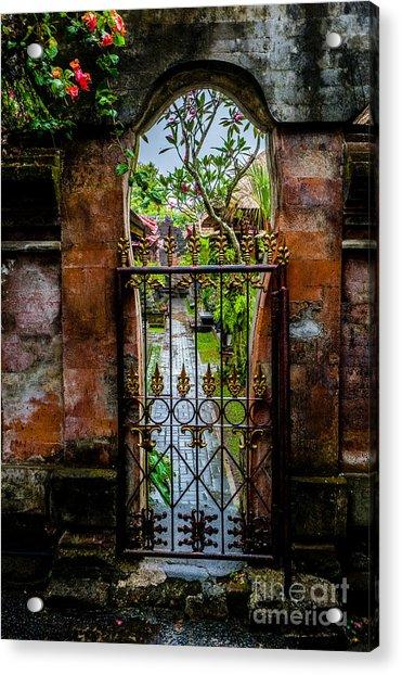 Bali Gate Acrylic Print