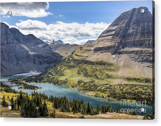 Acrylic Print featuring the photograph Hidden Lake Overlook by Jemmy Archer