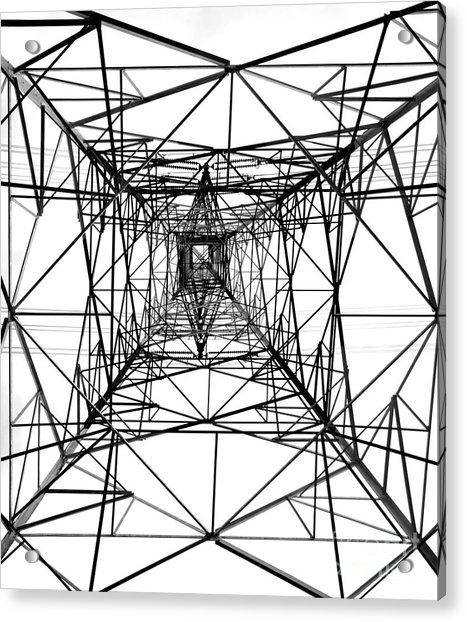 High Voltage Power Mast Acrylic Print