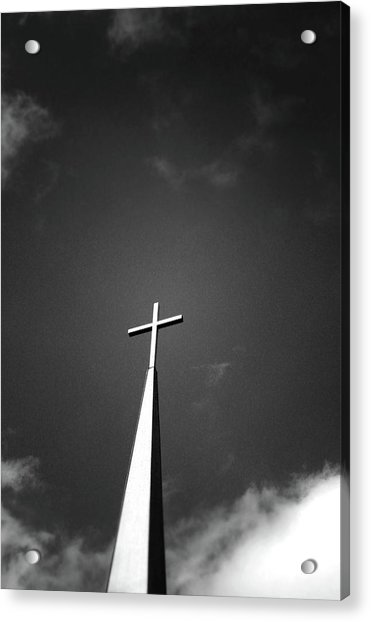 Higher To Heaven - Black And White Photography By Linda Woods Acrylic Print