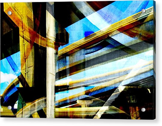 Highway Intersections Abstract W Map Acrylic Print