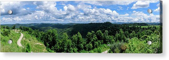Hills And Clouds Acrylic Print