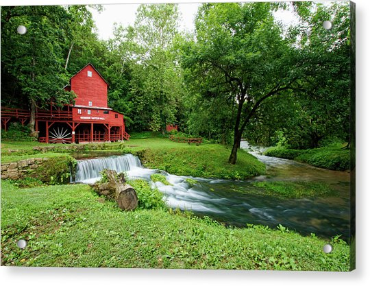 Hodgson Water Mill And Spring Acrylic Print