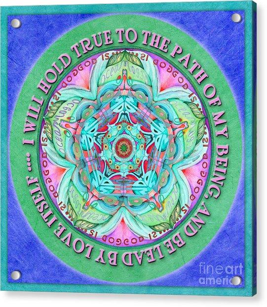 Hold True Mandala Prayer Acrylic Print