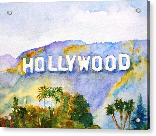 Hollywood Sign California Acrylic Print