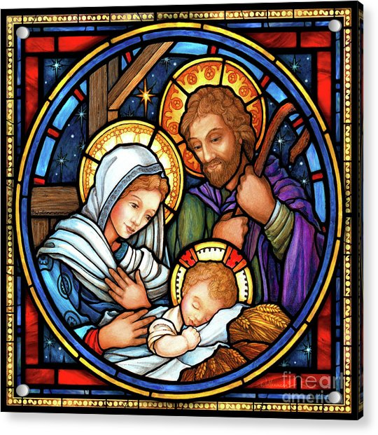 Holy Family Stained Glass Acrylic Print