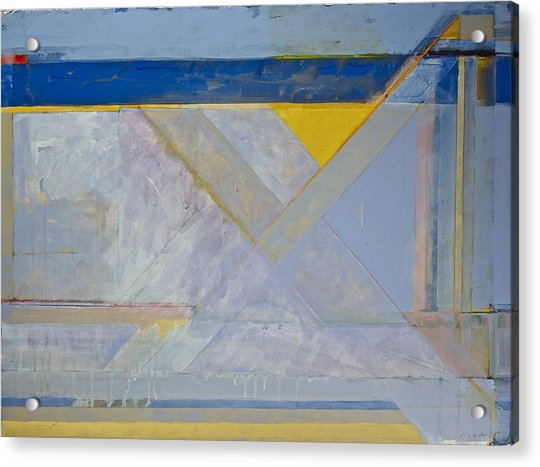 Acrylic Print featuring the painting Homage To Richard Diebenkorn's Ocean Park Series  by Cliff Spohn