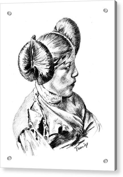 Hopi Girl Acrylic Print