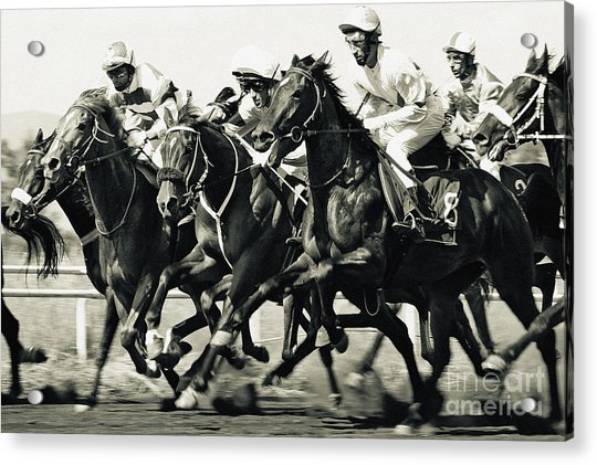 Horse Competition Vi - Horse Race Acrylic Print